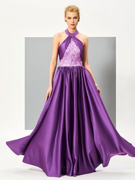 Ericdress Sexy Halter Backless Floor Length Evening Dress