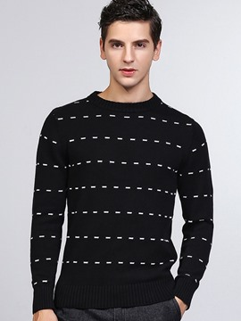 Ericdress Crew Neck Pullover Men's Knitwear