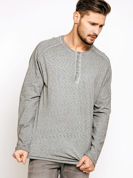 Ericdress Plain Long Sleeve Casual Men's T-Shirt