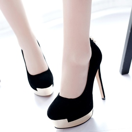 Ericdress Pretty Suede Platform Round Toe Pumps