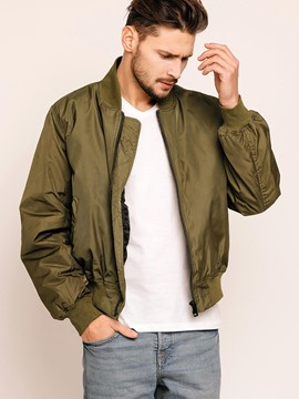 Ericdress Plain Back Embroidery Vogue Men's Jacket