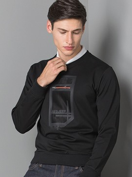 Ericdress Plus Size Pullover Slim Long Sleeve Men's T-Shirt