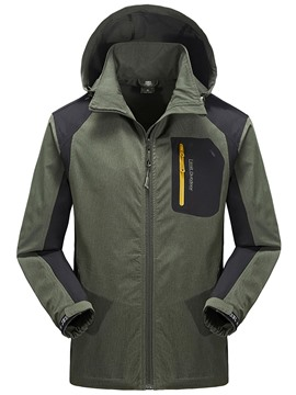Ericdress Zip Windproof Sports Casual Men's Coat