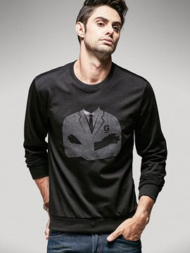 Ericdress Print Crew Neck Casual Slim Men's T-Shirt