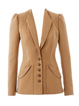 Ericdress Single-Breasted Slim Solid Color Blazer