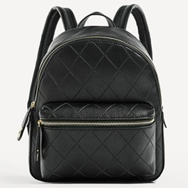Ericdress European Simple Plaid PU Backpack