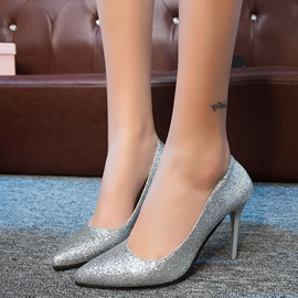 Ericdress Bling Sequins Point Toe Pumps
