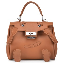 Ericdress Funny Color Block Synthetic Leather Handbag