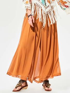 Ericdress Loose Plain Wide Legs Pants