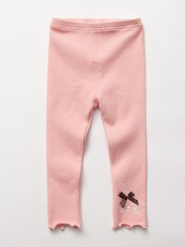 Ericdress Plain Rabbit Bow Girls Leggings