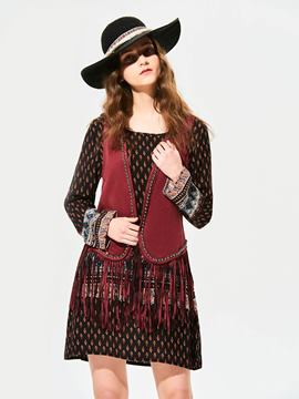 Ericdress Plain Tassel Beading Decorative Vest
