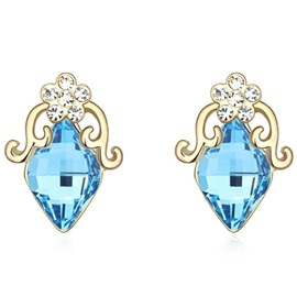 Ericdress Alloy E-Plating Crystal Stud Earrings