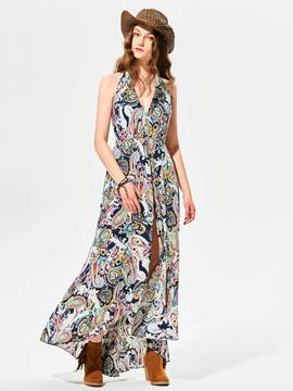 Ericdress Floral Print Loose Wide Legs Jumpsuits Pants