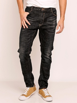 Plain Full Length Men's Jeans