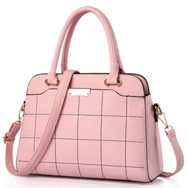 Ericdress Simple Stereo Checkered Handbag