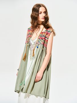 Ericdress Tassel Embroidery Patchwork Vest