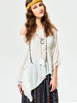 Ericdress Loose Solid Color Slash Blouse