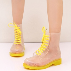 Ericdress Transparent Candy Color Waterproof Ankle Boots