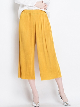 Ericdress Plain Elastics Loose Mid-Calf Pants