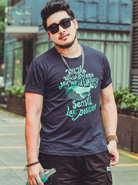 Ericdress Plus Size Print Short Sleeve Casual Men's T-Shirt