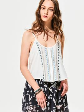 Ericdress Spaghetti Straps Embroidery Tank Top