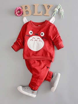 Ericdress Cartoon Pattern Long Sleeve Baby Boys Outfit