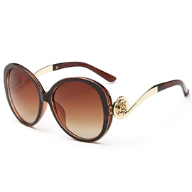 Ericdress Stylish Golden Frame Unti UV Sunglasses for Women