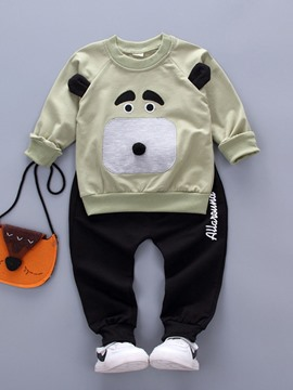Ericdress Cartoon Appliques Casual Bay Boys Outfit