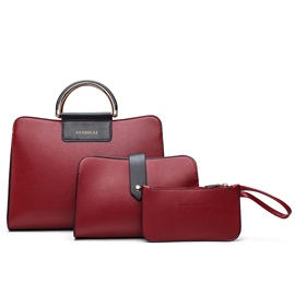 Ericdress Classic Solid Color Thread Decorated Handbags(3 Bags)