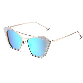 Ericdress Alloy Frame HD Blue Lens Unti-UV400 Women's Sunglasses