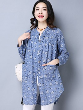 Ericdress Casual Floral Printed Blouse