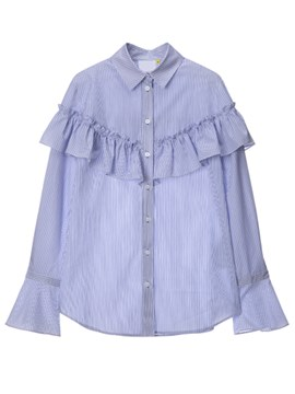 Ericdress Loose Frill Trumpet Blouse