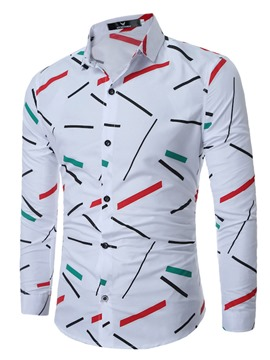 Ericdress Iregular Casual Print Long Sleeve Men's Shirt