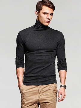 Ericdress Turtle Neck Long Sleeve Slim Men's T-Shirt