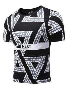 Ericdress Unique Geometric Pattern Print Casual Men's T-Shirt