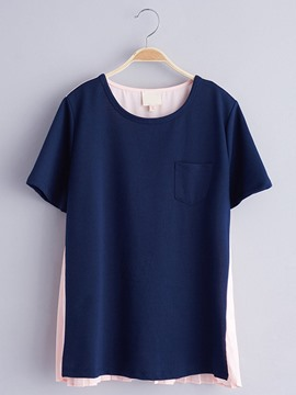 Ericdress Plain Loose Short Sleeve Girls T-Shirt