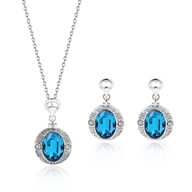 Ericdress Trendy Blue Crystal Two-Pieces Party Jewelry Set