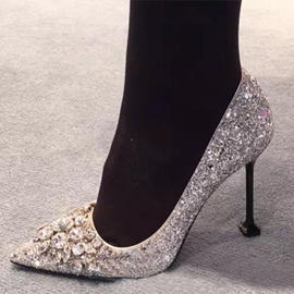Ericdress Glittering Sequins&rhinestone Point Toe Pumps
