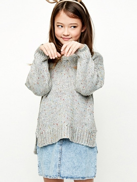 Ericdress Spring Loose Pullover V-Neck Girls Sweater