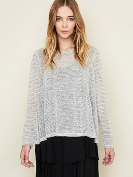 Ericdress Loose Patchwork Long Sleeve T-Shirt