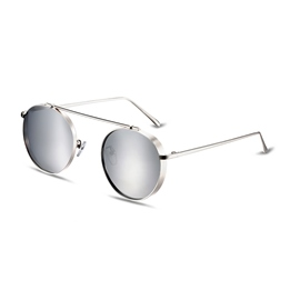 Ericdress HD Silver Lenses Retro Polarized Sunglasses