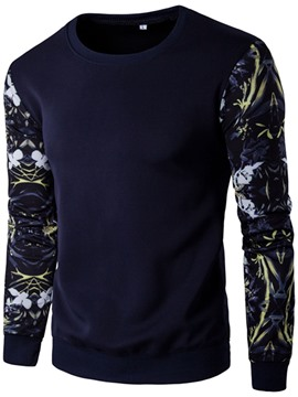 Ericdress Long Sleeve Patchwork Print Pullover Men's Hoodie