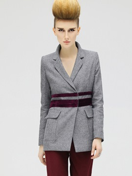 Ericdress Color Block Patchwork Slim Blazer