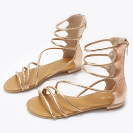 Ericdress Retro Roman Open Toe Flat Sandals