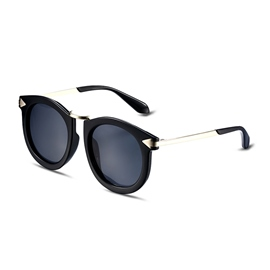 Ericdress Black Plastic Full Frame Design Round Sunglasses