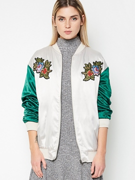 Ericdress BFstyle Color Block Embroidery Jacket