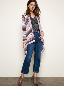 Ericdress Loose Stripe Tassel Knitwear