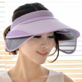 Ericdress Visor Crown UV Protected Foldable Sun Hat