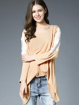Ericdress Casual Asymmetric Loose T-shirt