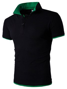 Ericdress Short Sleeve Color Block Men's Polo T-Shirt